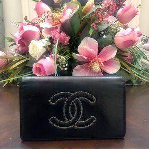 Chanel Coco mark long wallet